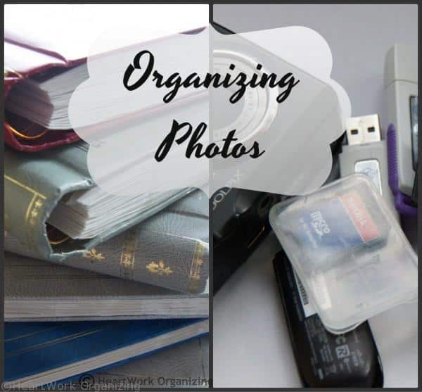 how to organize digital and print photos