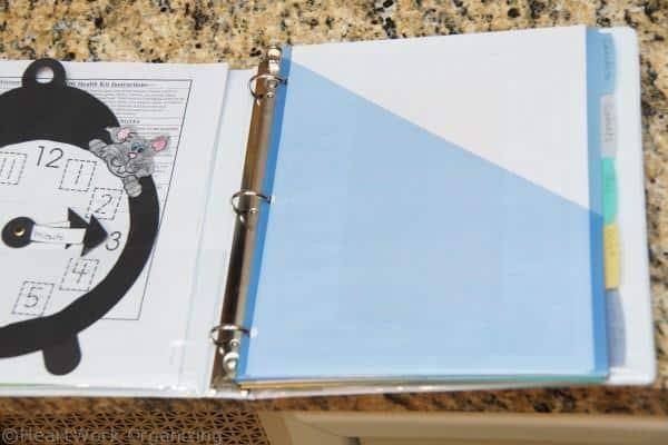how to make a school binder