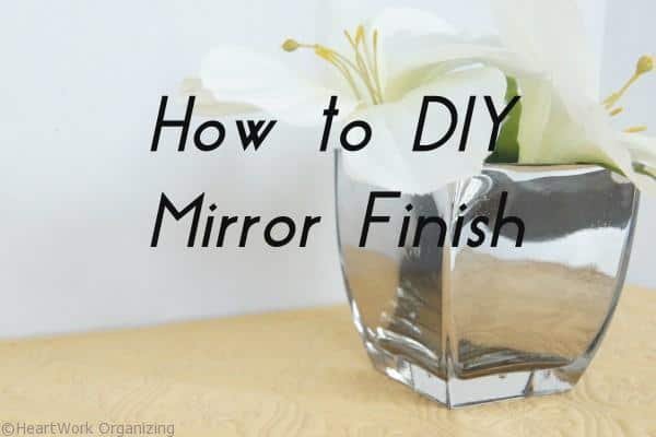 DIY Mirror vases