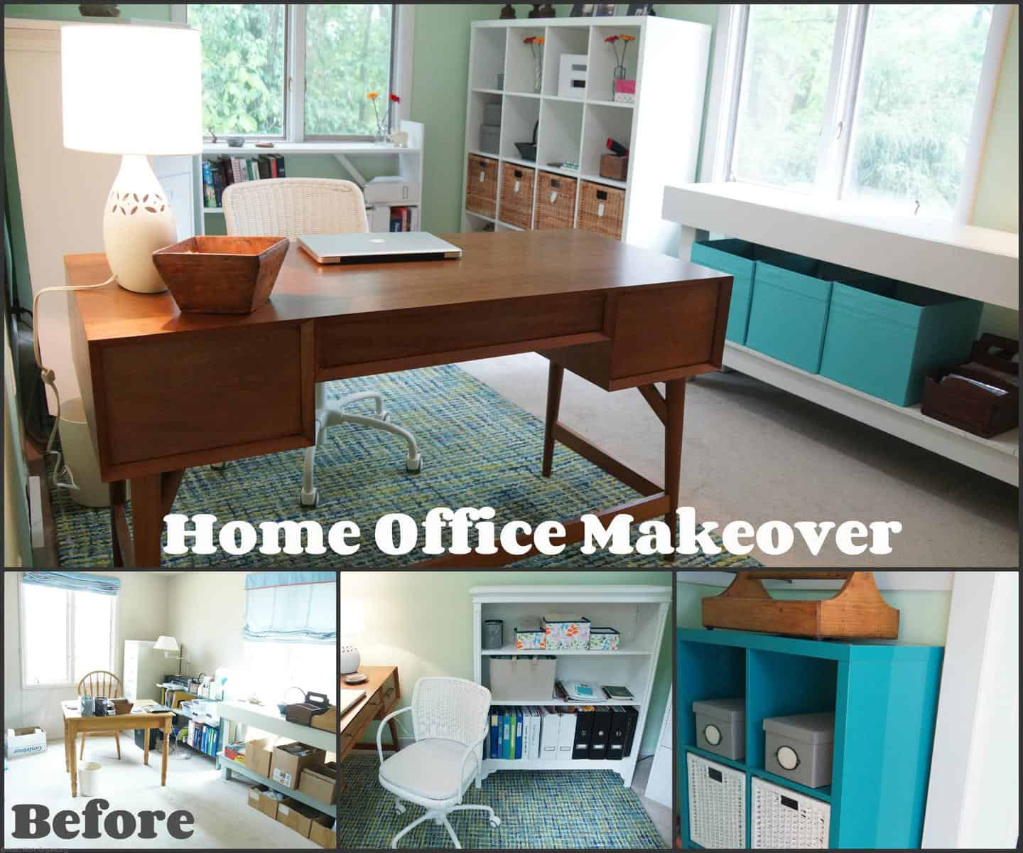 Another Home Office Makeover Green And Blue Heartwork