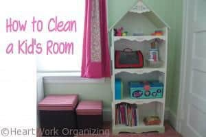 Read more about the article Cleaning a Kid's Room {Organizing}