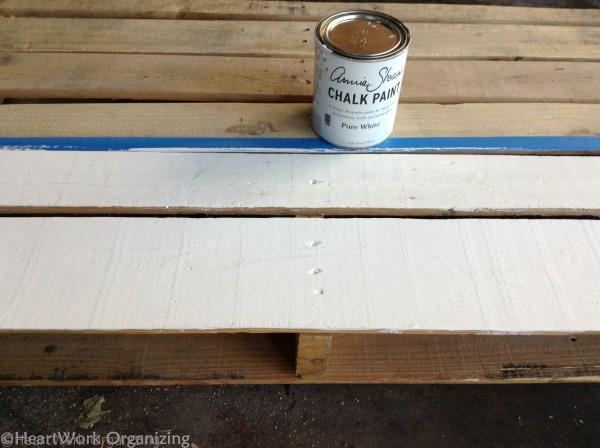 chalkboard surface on Pallet Lemonade Stand