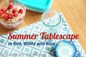 Read more about the article Summer Tablescape {Red, White & Blue}