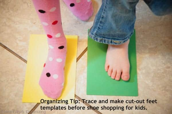 Shoe Shopping tips for kids at consignment sales