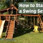 How to Stain a Swing Set {& HomeRight Finish Max Pro Giveaway}