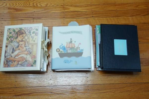 Organized baby books