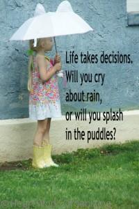 Read more about the article Organizing Tip: Splash in the Puddles