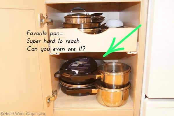 pull out shelves make kitchen organizing easier