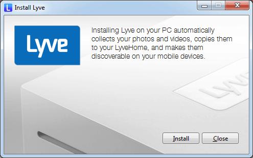 Lyve photo organizing on PC