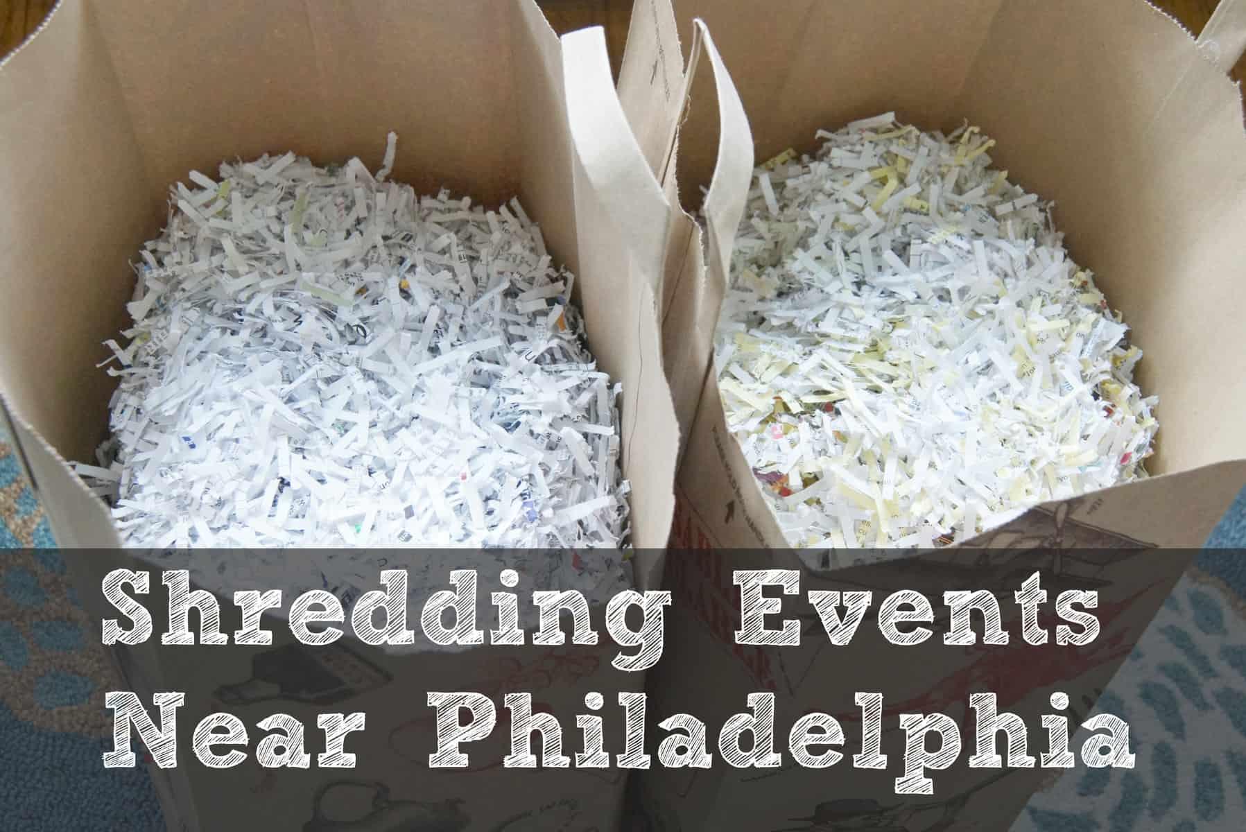 Shredding events near Philadelphia to organize paper