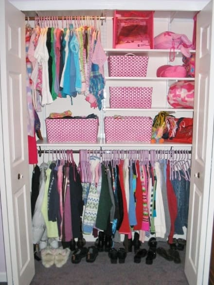 Organizing A Teen S Closet Before And After
