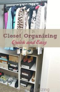 Read more about the article Quick Closet Organizing