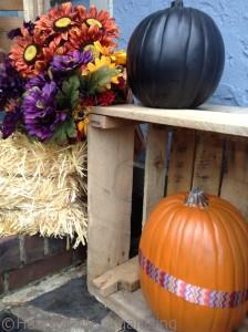 ribbon accented pumpkin