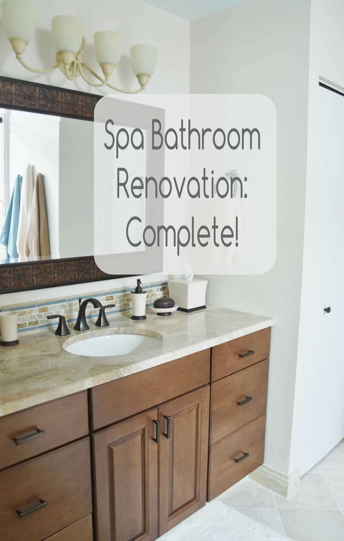 Spa Bathroom Renovation Complete