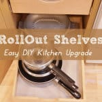 how to organize kitchen with rolling shelves
