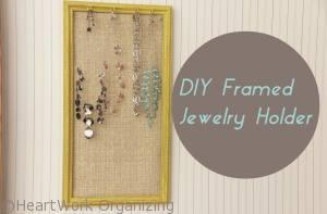 Read more about the article DIY Jewelry Frame Organizer