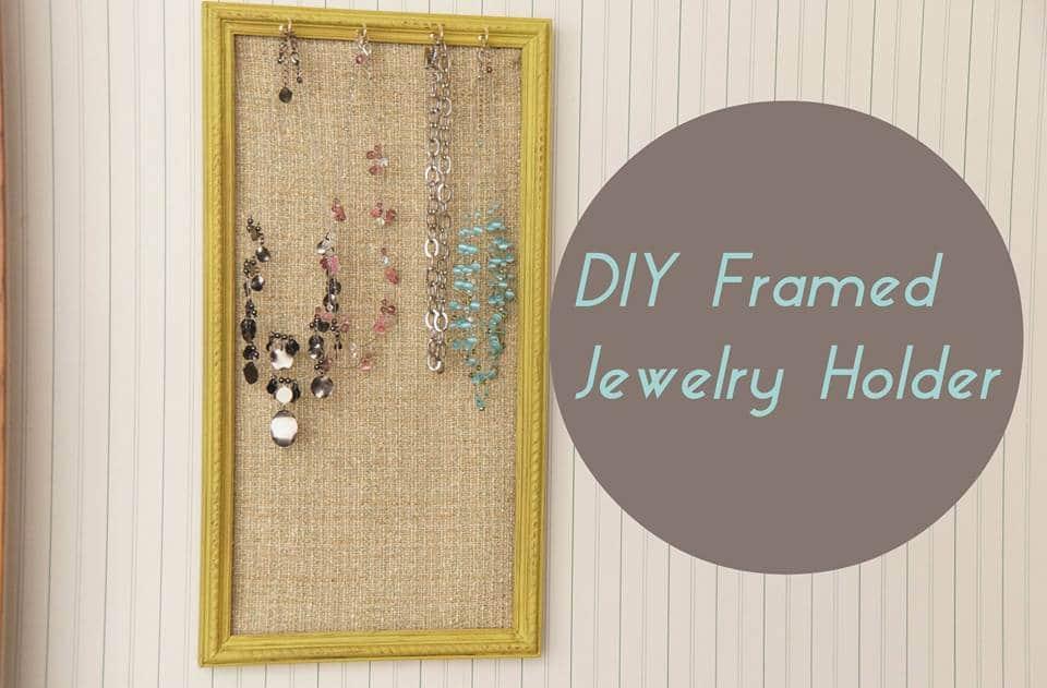 DIY Jewelry Frame Organizer | HeartWork Organizing, Tips for ...