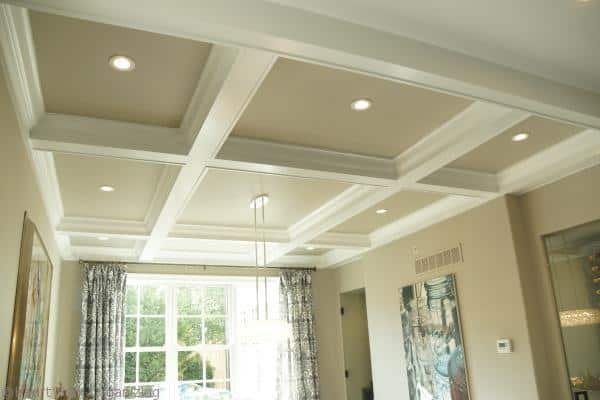 ding room coffered ceiling