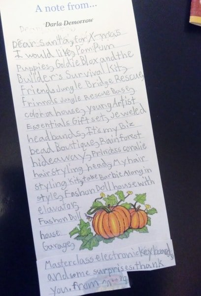 gift guide for kids 2014 Dear Santa letter
