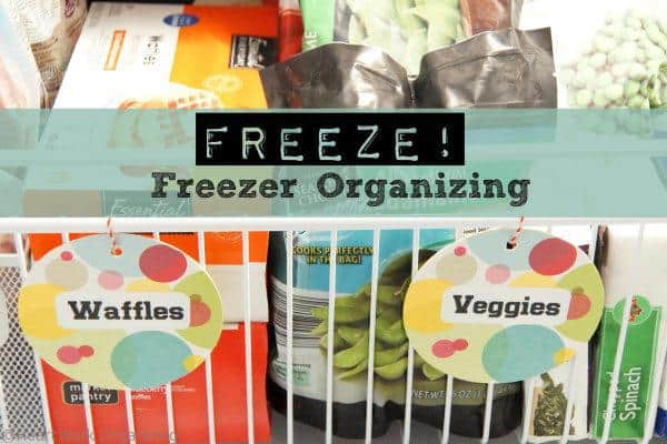 How to label and organize freezer