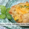 Turkey Leftover Puff Pastry Muffin Cups