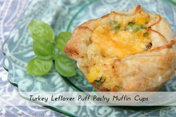 Turkey Leftover Puff Pastry Muffin Cups Recipe