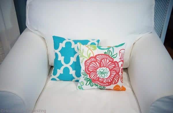 Hide holiday pillows with envelope pillow slipcovers
