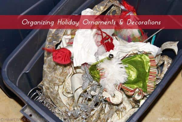 Undecorating Christmas decorations