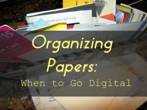 Read more about the article Organizing Paper: When to Go Digital