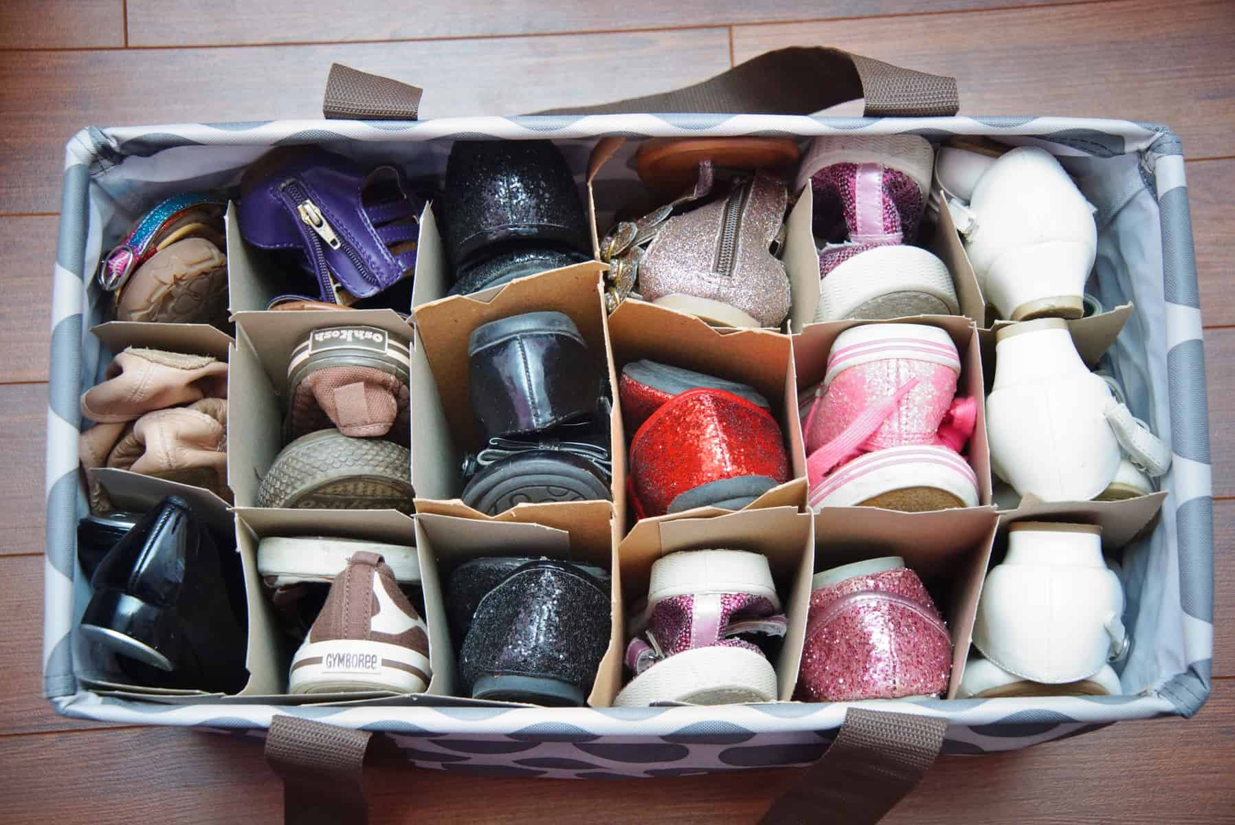 Ordinaire Use Wine Case Dividers To Organize Childrens Shoes