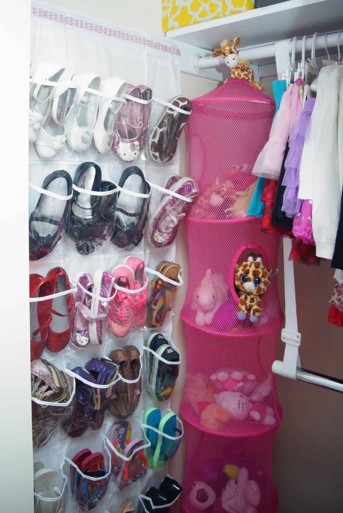 Organizing A Child S Closet What S Pink Purple Amp Giraffe