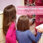 Organizing a Child's Closet: What's Pink, Purple & Giraffe?