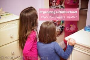 Read more about the article Organizing a Child's Closet: What's Pink, Purple & Giraffe?