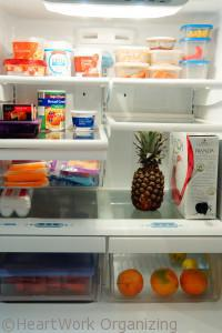 First of the Month Organizing Routines-clean the fridge