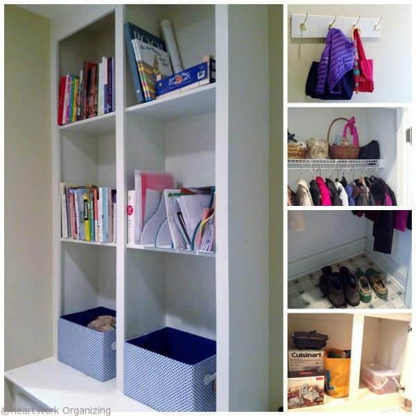 after organizing the mudroom