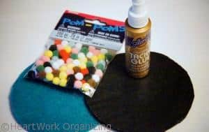 materials needed for pompom coasters