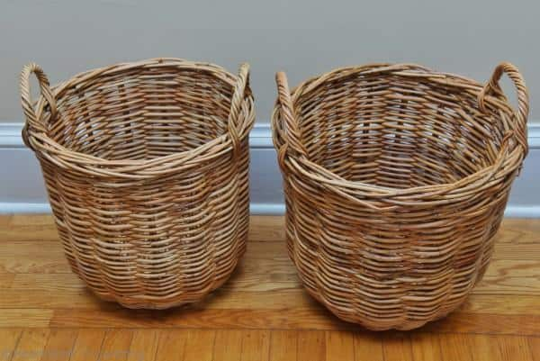 round wicker baskets need a lining
