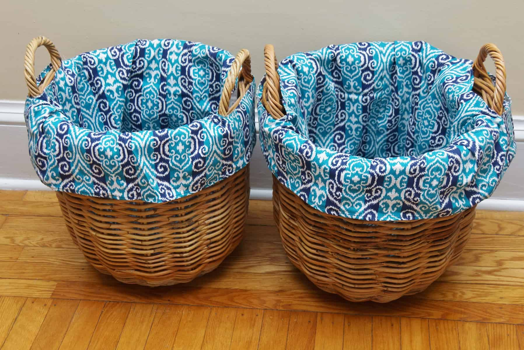 How to Make DIY Basket Liners for Round Baskets | HeartWork ...