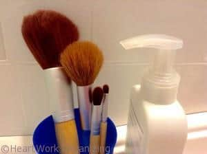clean makeup brushes every first of the month