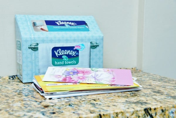 make a mail station from a Kleenex box
