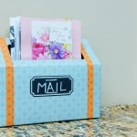 DIY Mail Station {Organize Mail}