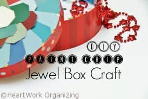 Read more about the article Paint Chip DIY Jewel Box Craft