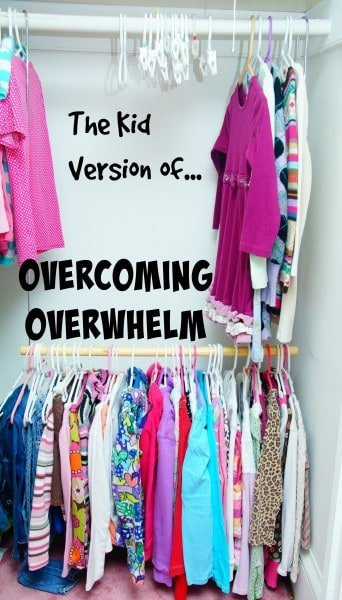 Kids Can Get Overwhelmed, too. Help them organize