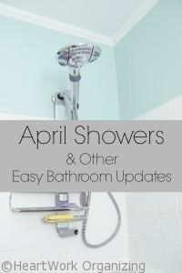 Read more about the article April Showers and Other Easy Bathroom Updates