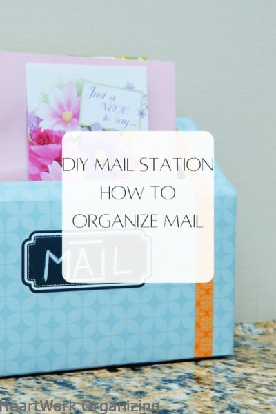 DIY Mail Station - How to Organize Mail