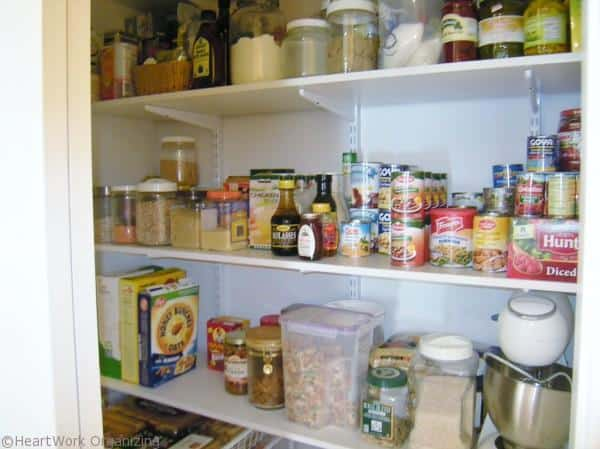 converted pantry shelves
