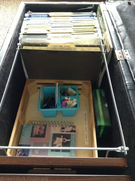 organize files in an ottoman