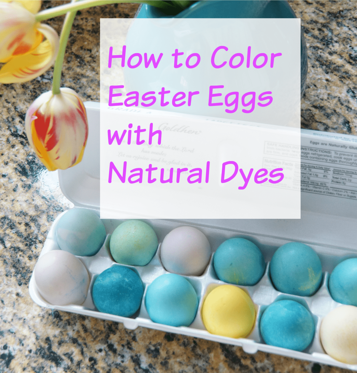 how to color easter eggs with natural dyes