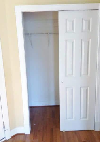 convert a closet into a pantry