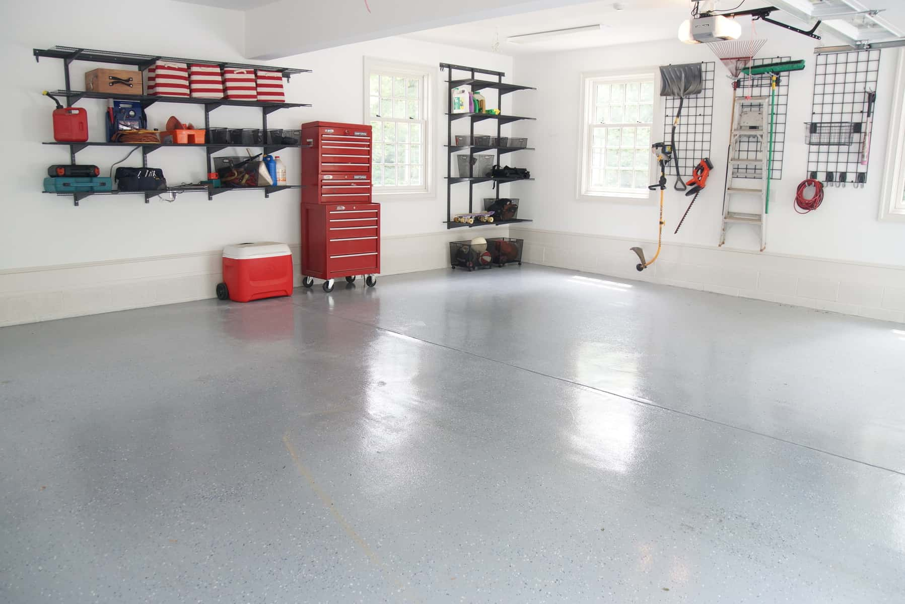 organized garage after and sealed floor - Organize Garage